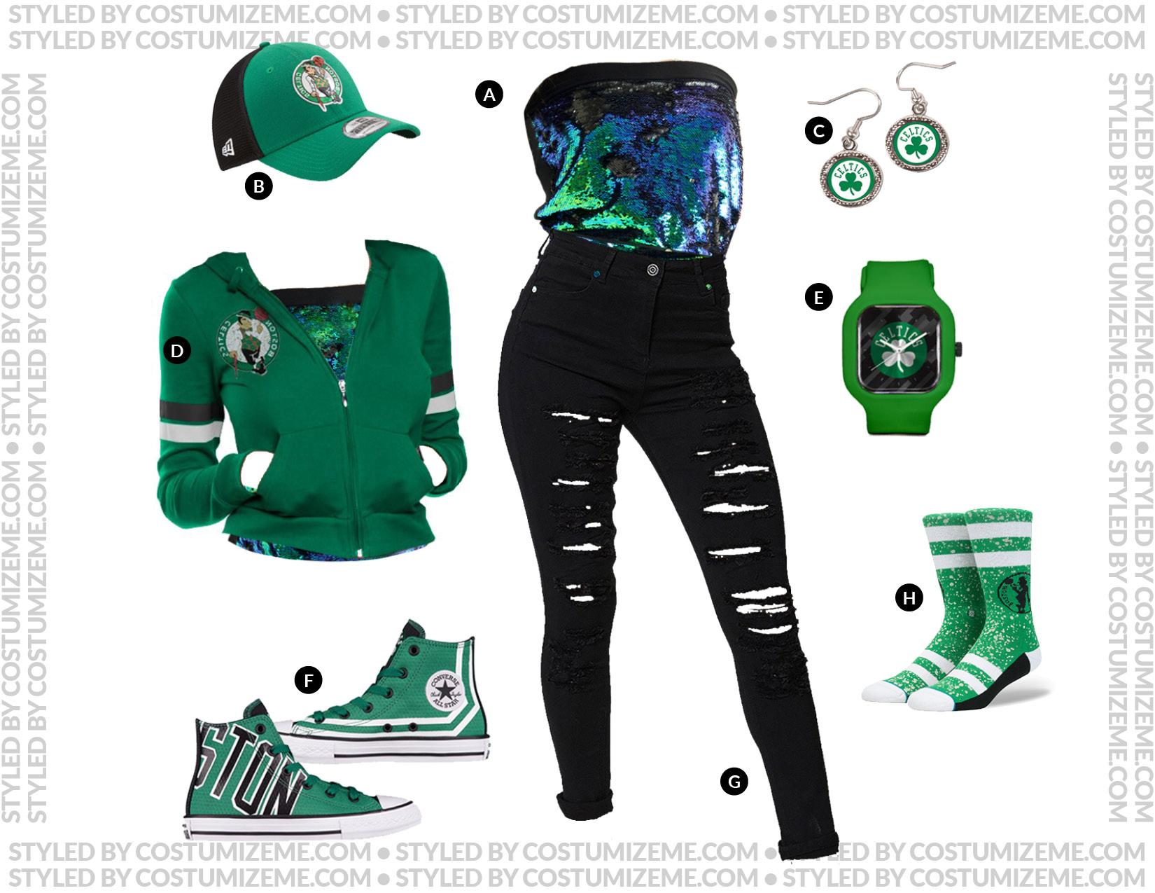 Boston Celtics Game Day Fan Fashion Outfit