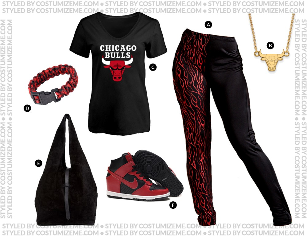 Chicago Bulls Game Day Fan Fashion Outfit
