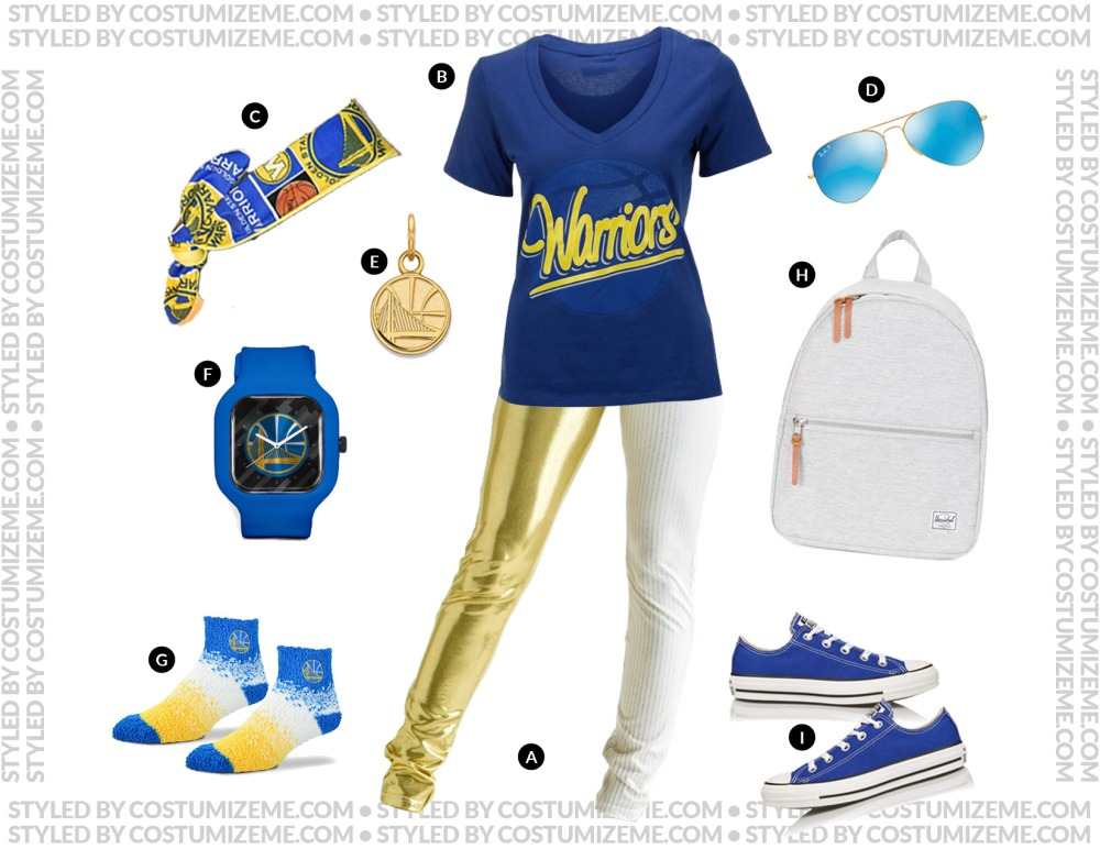 Golden State Warriors Game Day Fan Fashion Outfit
