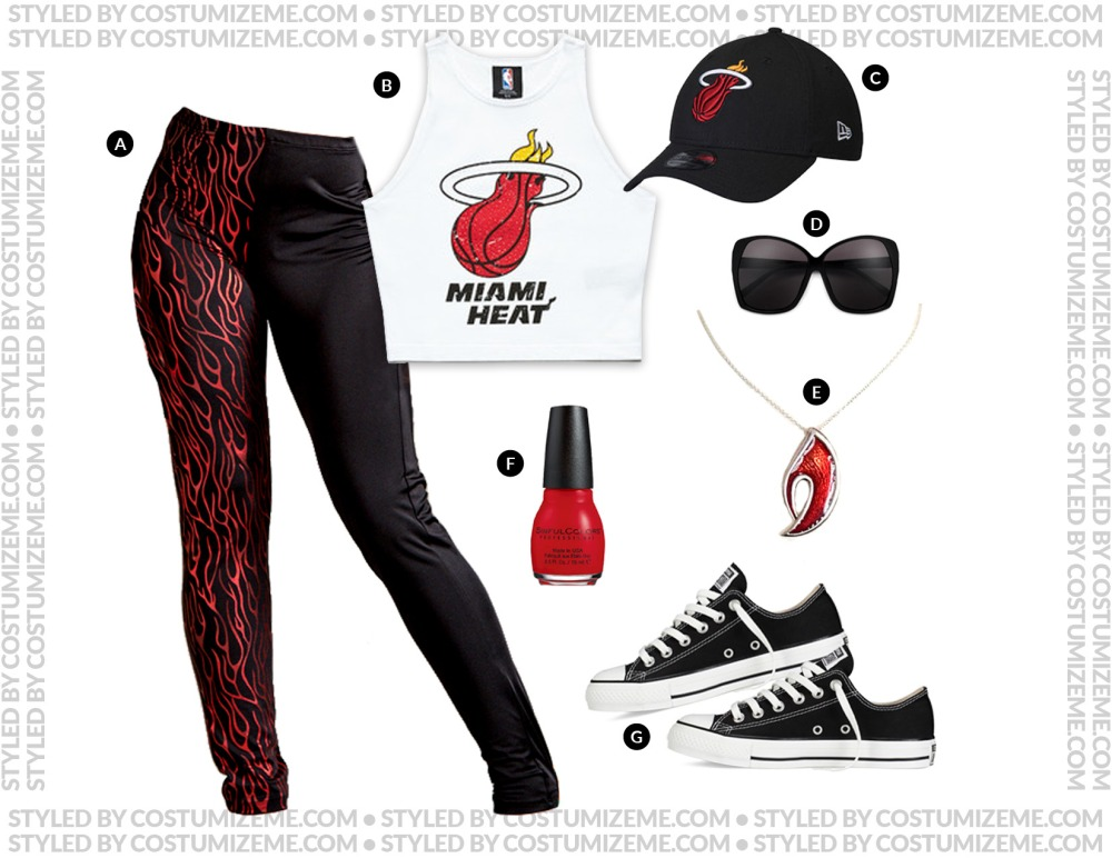Miami Heat Game Day Fan Fashion Outfit