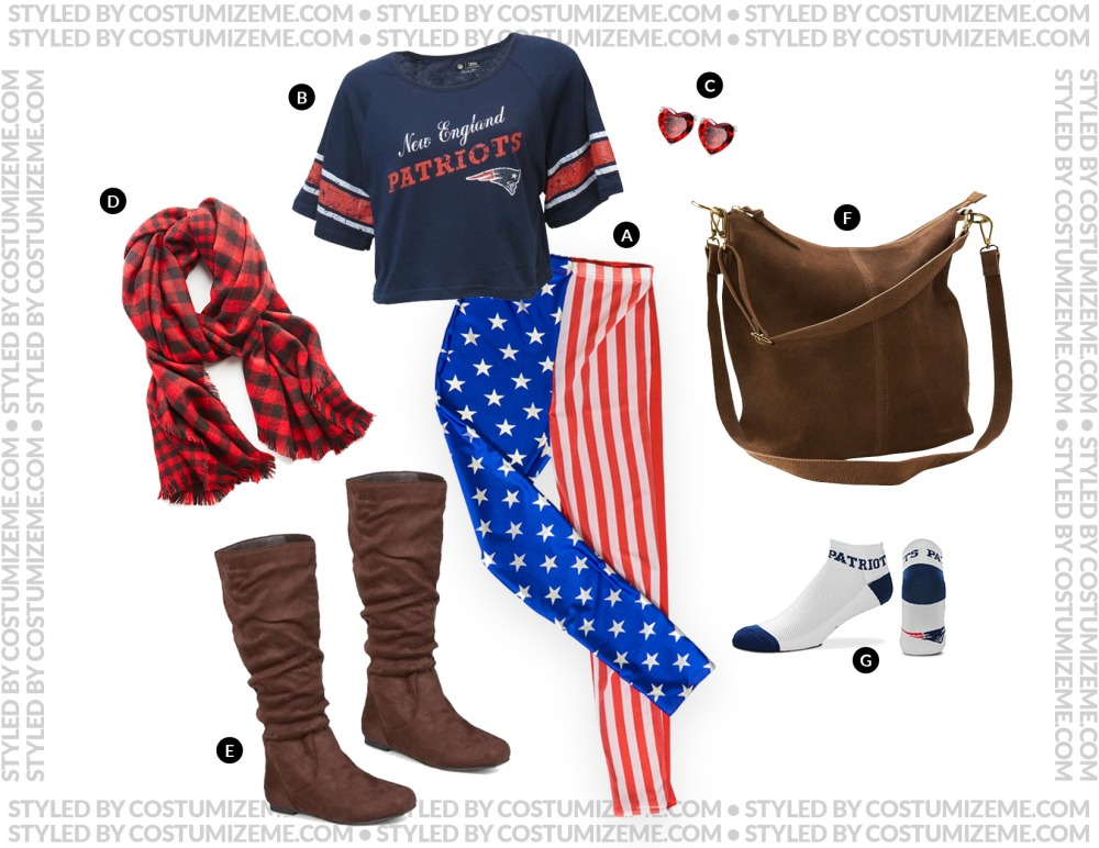 New England Patriots Game Day Fan Fashion Outfit