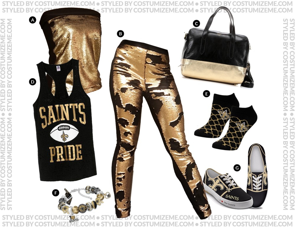 New Orleans Saints Game Day Fan Fashion