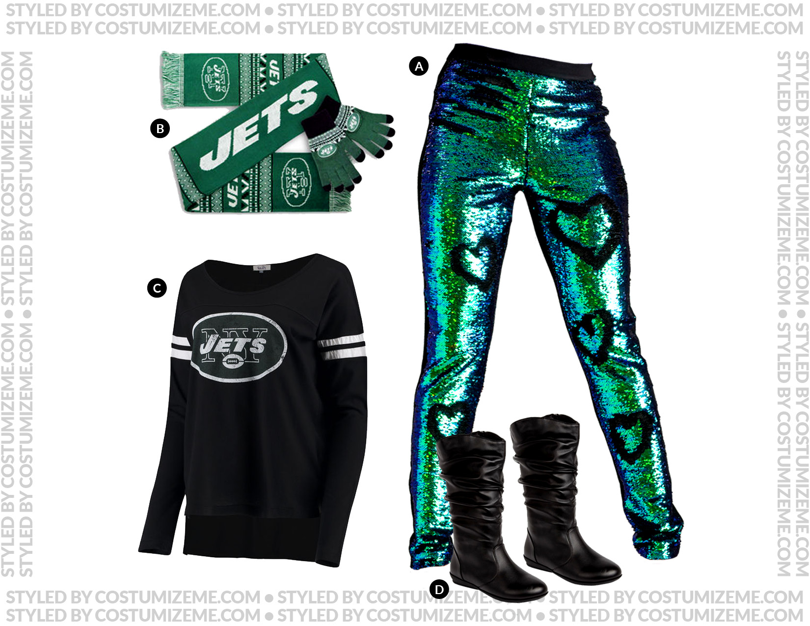 New York Jets Game Day Fan Fashion Outfit