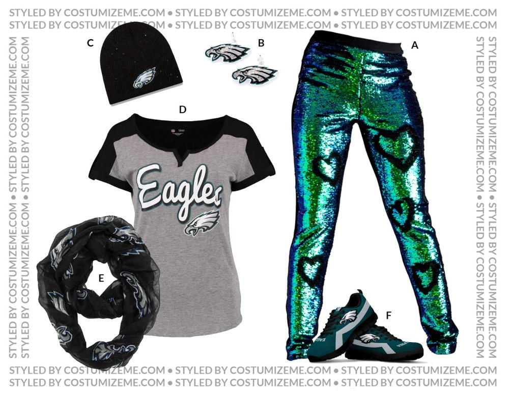 Philadelphia Eagles Football Fan Fashion by Costumize Me