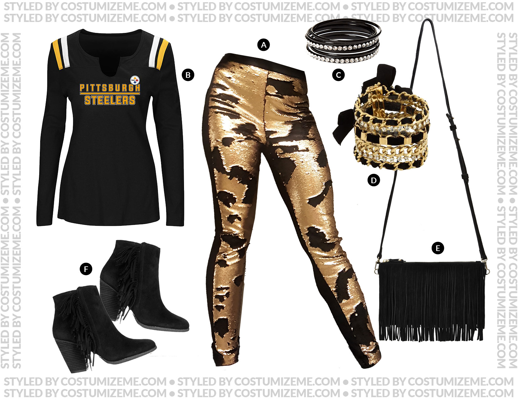 Pittsburgh Steelers Game Day Fan Fashion Outfit