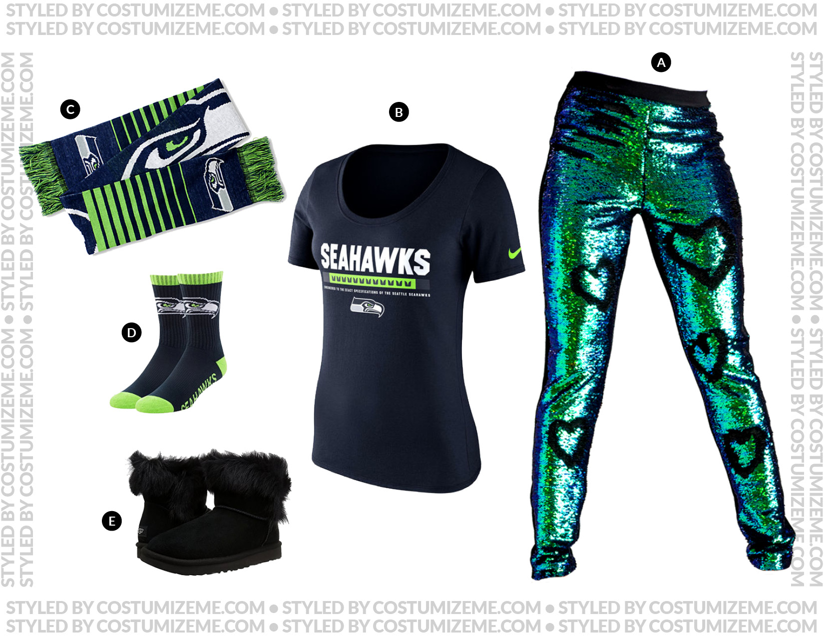 Seattle Seahawks Game Day Fan Fashion Outfit